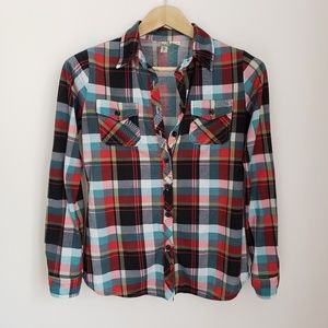 Bella D Plaid Button Down Shirt